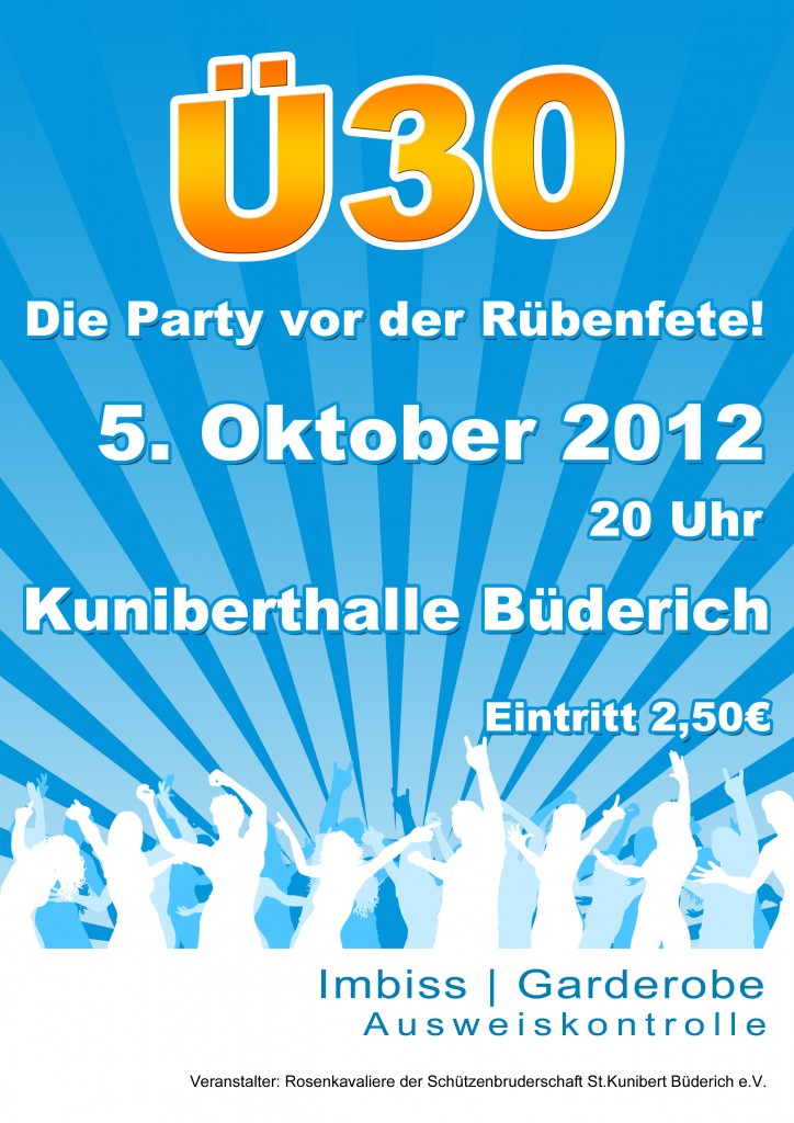 Flyer der Ü30-Party