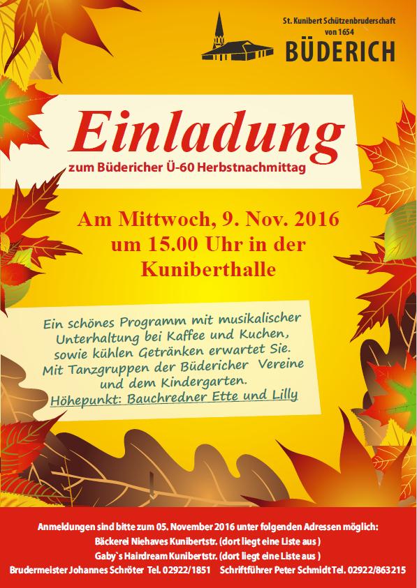 Büdericher Ü60-Herbstnachmittag 2016